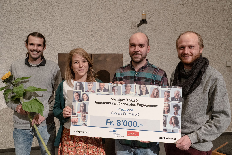 1. Preis Sozialpreis 2020: Prozessor (Verein Prozessor, Aarau)